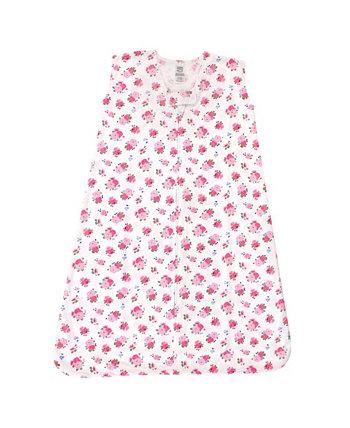 Хлопковый спальный мешок из джерси для маленьких девочек, мешок, одеяло, без рукавов Luvable Friends