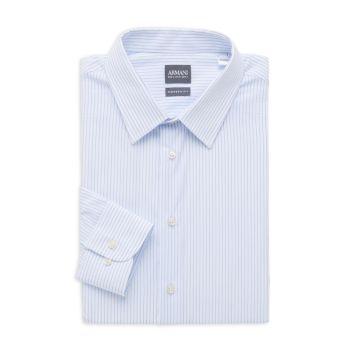Современная классическая рубашка в полоску Armani Collezioni