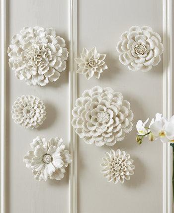 Белые настенные цветы, набор из 7 Two's Company