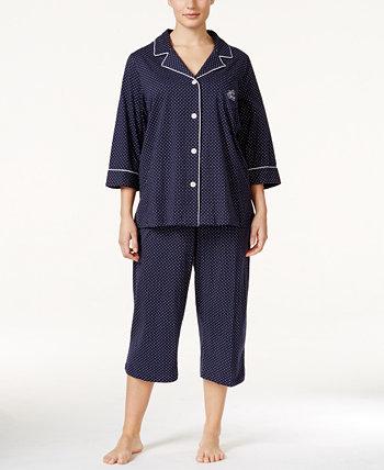 Пижамный комплект с верхом на пуговицах и брюками большого размера Ralph Lauren