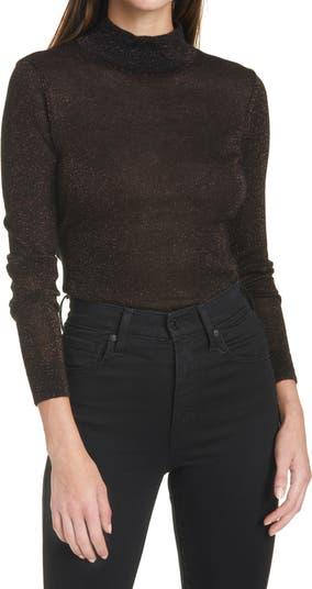 Мерцающий свитер с воротником-стойкой Autumn Cashmere