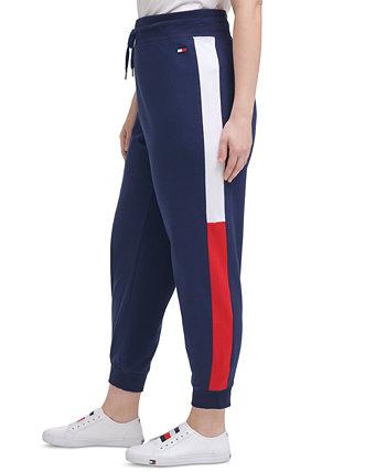 Спортивные брюки большого размера с панелями для учебы Tommy Hilfiger