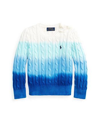 Вязаный вязаный свитер для маленьких девочек Ralph Lauren