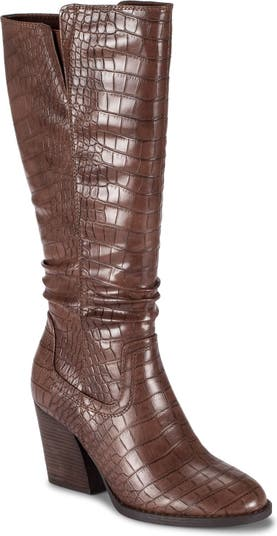 Lilly Tall Croc Embossed Boot Baretraps