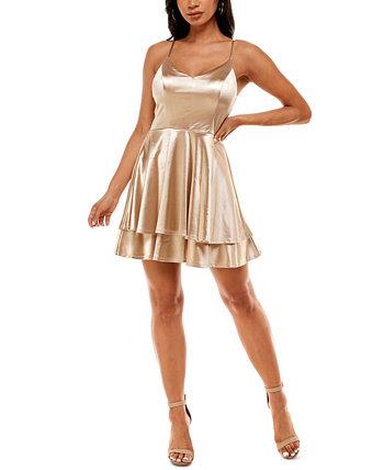 Атласное платье трапеции для юниоров Emerald Sundae