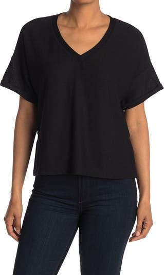 Укороченная футболка с V-образным вырезом CODEXMODE