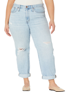 Plus Size Relaxed Jeans w/ Rips in Cresthaven Wash Madewell