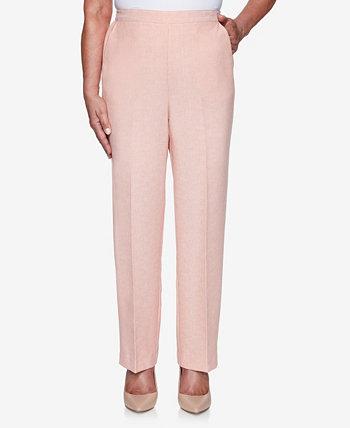 Женские брюки Missy Springtime in Paris пропорционального среднего размера Alfred Dunner