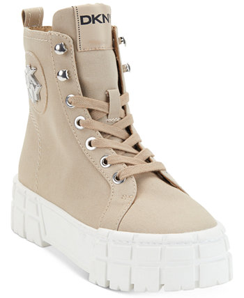 Women's Peri Lace-Up Booties DKNY