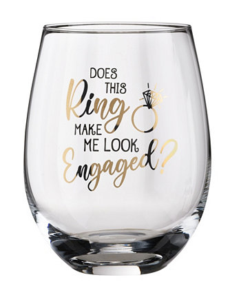 Это кольцо заставляет меня выглядеть Помолвленный бокал для вина Lillian Rose