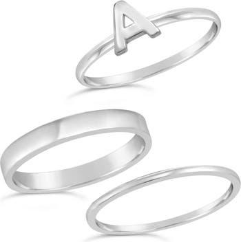 Первоначальное кольцо из стерлингового серебра - набор из 3 штук - A Sterling Forever
