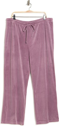 Velour Wide Leg Track Pants Abound