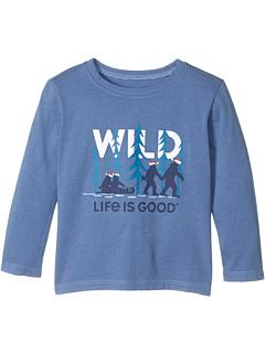 Футболка с длинными рукавами Wild Family для малышей (для малышей) Life is Good Kids