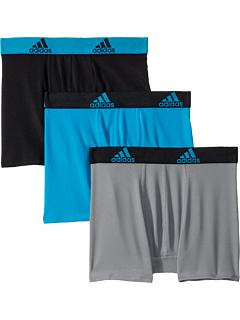 Спортивное исполнение Climalite 3-Pack Boxer Brief (Большие дети) Adidas Kids