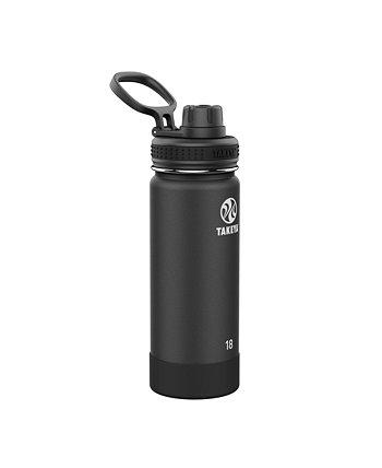 Actives 18oz Изолированная бутылка с водой из нержавеющей стали с изолированной крышкой носика Takeya