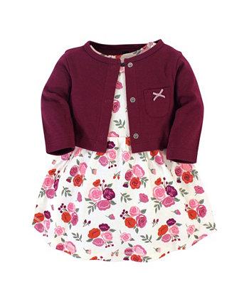 Платье и кардиган для девочек Hudson Baby
