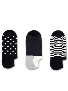 3-Pack Optic Dot Sneaker Liner Happy Socks
