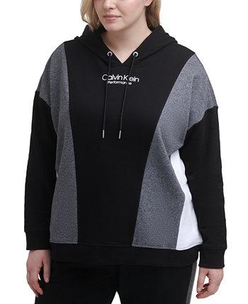 Plus Size Colorblocked Hoodie Calvin Klein