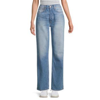 Свободные джинсы с высокой посадкой Re/Done