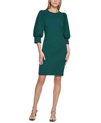 Платье-футляр больших размеров с объемными рукавами Calvin Klein