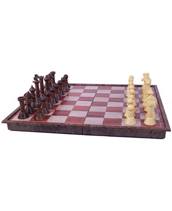 Древесный магнитный шахматный набор John N. Hansen Co.