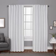Exclusive Home 2-pack Zeus Solid Textured Woven Blackout Window Curtains Exclusive Home