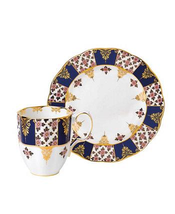 Набор из 2 предметов 100 Years 1900, кружка и тарелка, синий цвет Регентства Royal Albert