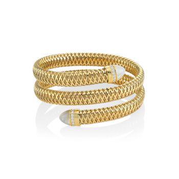 Primavera желтое золото 18 карат, перламутр & amp; Браслет-манжета с бриллиантами Roberto Coin