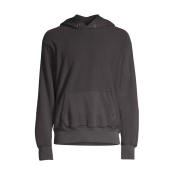 Relaxed Cotton Hoodie Les Tien