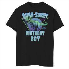 Футболка для мальчиков 8-20 Jurassic World T-Rex Roar-some Birthday Boy с рисунком Jurassic World