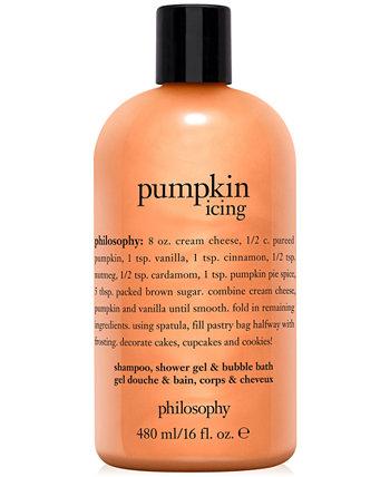 Шампунь для обледенения тыквы, гель для душа и пена для ванн, 16 унций. Philosophy