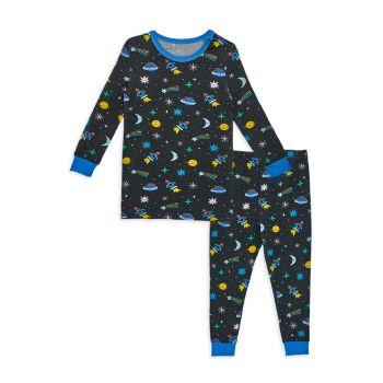 Little Boy's & amp; Пижамный комплект из 2 предметов Space Chase с магнитом для мальчиков MAGNETIC ME