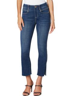 Укороченные джинсы Gia Glider из бронте с разрезом по краю подола Liverpool
