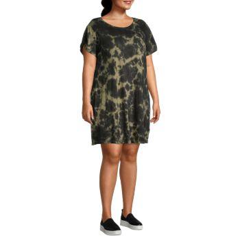 Plus Tie-Dye T-Shirt Dress Sanctuary