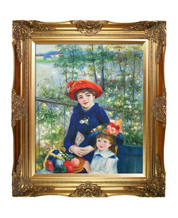 "By Overstockart Two Sisters On The Terrace, 1881 with Victorian Frame, 28"" x 32"" La Pastiche"