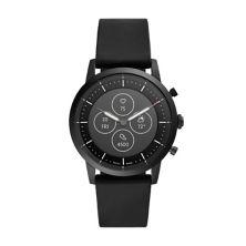 Fossil Men's HR Collider Black Silicone Hybrid Smart Watch - FTW7010 Fossil