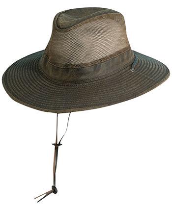 Мужская кожаная сафари-шляпа с большими полями Dorfman Pacific