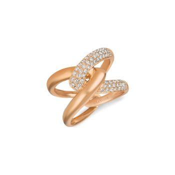 14K Strawberry Gold® & amp; Кольцо с бриллиантом телесного цвета / размер 7 Le Vian