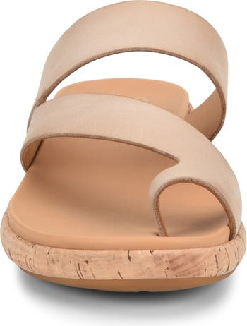 Elaver Leather Toe Loop Sandal Kork-Ease