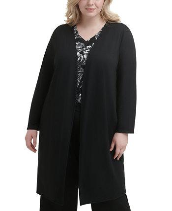 Plus Size Open-Front Jacket Calvin Klein