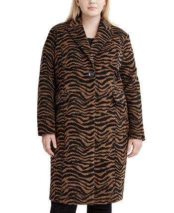 Куртка большого размера с принтом зебры, созданная для Macy's Tahari