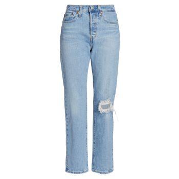 Рваные прямые джинсы до щиколотки Wedgie с высокой посадкой Levi's