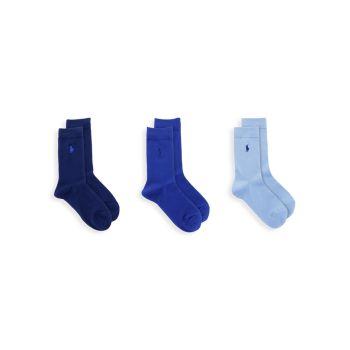 Набор из трех сверхмягких плоских носков Ralph Lauren