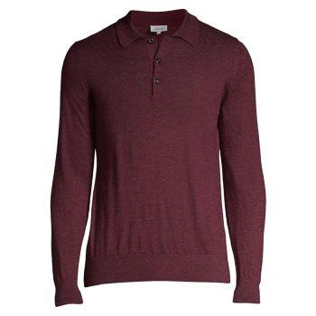 Кашемировая рубашка-поло с длинными рукавами Brioni