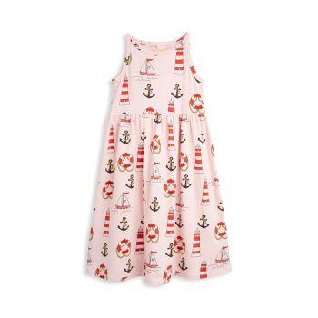 Маленькая девочка & amp; Платье Girl's Lighthouse из органического хлопка Mini rodini