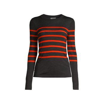 Striped Merino Wool Sweater Jason Wu