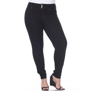 Plus Size White Mark High-Rise Skinny Jeans White Mark