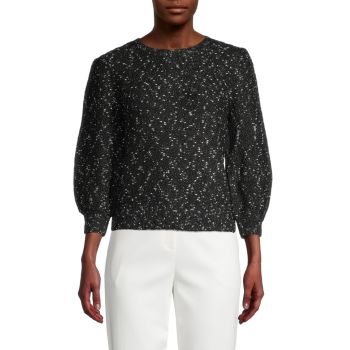 Speckled Puff-Sleeves Sweater Calvin Klein Jeans