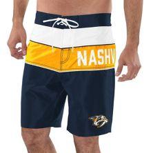 Men's G-III Sports by Carl Banks Navy/Gold Nashville Predators All-Star Swim Trunks G-III