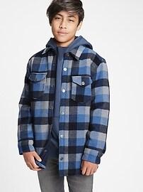 Куртка-рубашка в клетку для подростков Gap